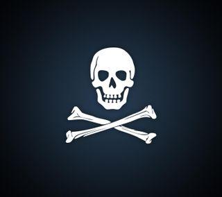 Обои на телефон пираты, череп, логотипы, белые, balck
