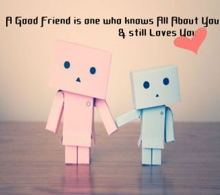 Обои на телефон дружба, чувства, сердце, приятные, друг, высказывания, good, danbo, a good friend
