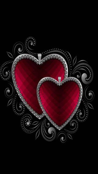Обои на телефон бриллиант, сердце