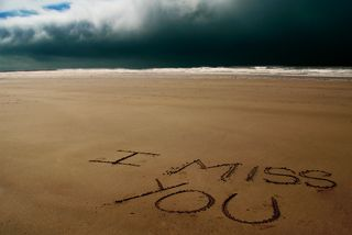 Обои на телефон волна, ты, скучать, пляж, песок, океан, облака, море, вода, missing