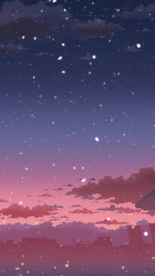 Обои на телефон пастельные, розовые, облака, ночь, небо, арт, art, 010