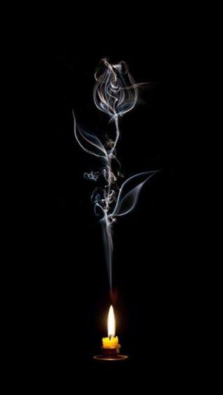 Обои на телефон дым, розы, smoke rose