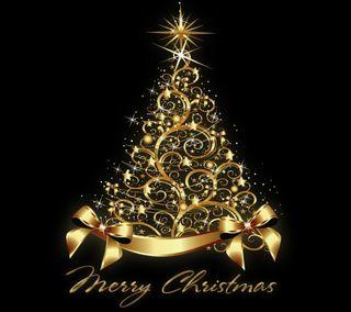 Обои на телефон счастливое, дерево, рождество, золотые, gold christmas