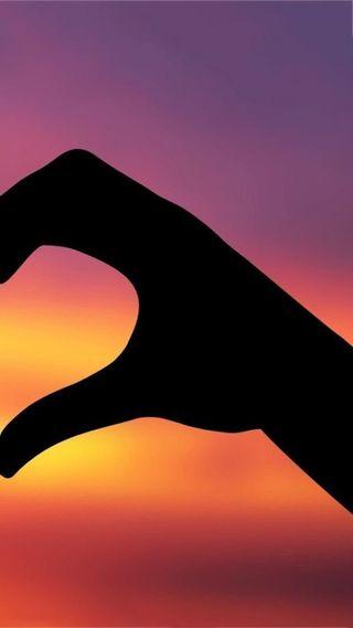 Обои на телефон рука, сердце, пара, любовь, закат, right, love, hd