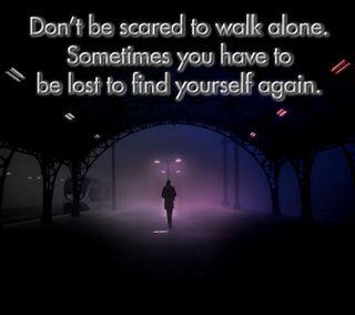 Обои на телефон прогулка, одиночество, высказывания, walk alone