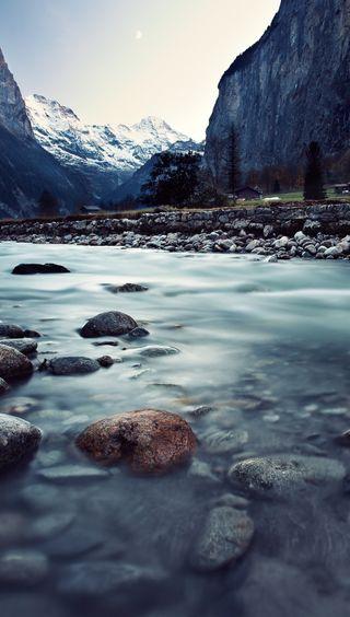 Обои на телефон река, природа, вода