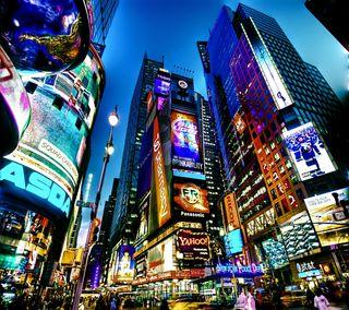 Обои на телефон нью йорк, квадратные, новый, йорк, город, times square, ny