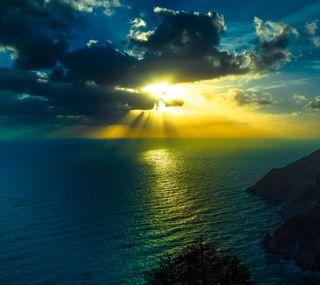 Обои на телефон красота, природа, крутые, закат, вечер, hd, evening sunset