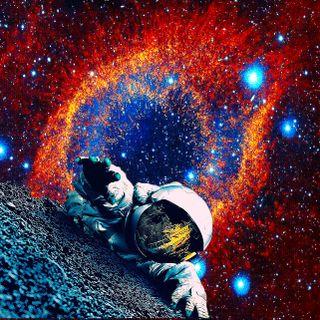 Обои на телефон туманность, монтаж, люди, космонавт, галактика, lost, galaxy