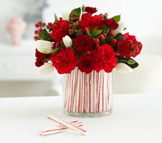 Обои на телефон presents, zedgemas15, candy cane bouquet, рождество, праздник, конфеты, букет
