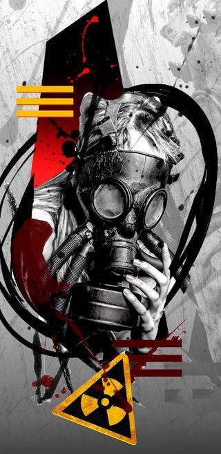 Обои на телефон ядерные, тема, радиоактивный, маска, абстрактные, bizarre