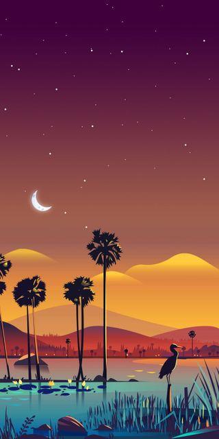 Обои на телефон оранжевые, пляж, пейзаж, orange landscape