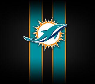 Обои на телефон футбол, майами, логотипы, дельфины, nfl