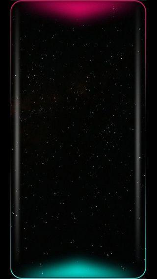Обои на телефон грани, черные, туманность, темные, розовые, зеленые, звезды, аврора