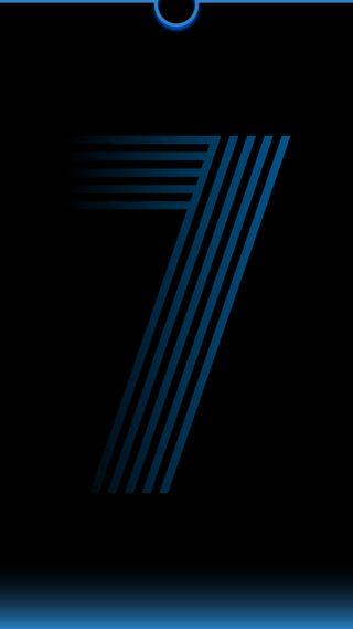 Обои на телефон выемка, черные, темные, синие, семь, редми, градиент, абстрактные, redmi, notch seven, hd, a50, 4k