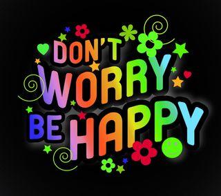 Обои на телефон не, цветы, текст, счастливые, волноваться, вдохновляющие, будь, абстрактные, happy