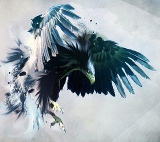 Обои на телефон птицы, орел, летать, крылья, животные, абстрактные