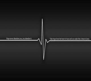 Обои на телефон зверь, цитата, сердце, поговорка, надежда, quote saying, man, hope abandon