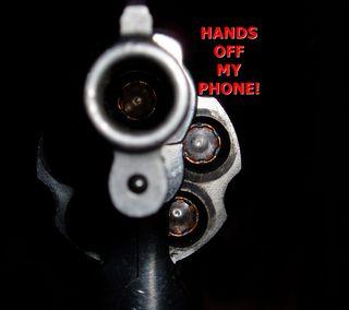 Обои на телефон экран блокировки, пистолет, оружие, bullet