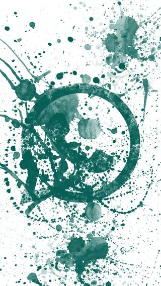 Обои на телефон брызги, фон, логотипы, зеленые, whatsapp logo splash, whatsapp, inksplash
