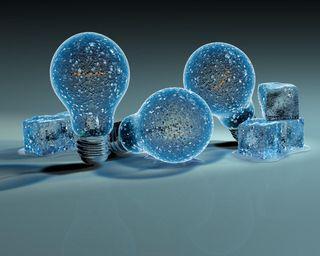 Обои на телефон креативные, фантазия, синие, свет, лед, лампа, bulbs, 3д, 3d