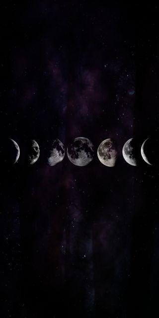 Обои на телефон зодиак, луна, космос, звезды, галактика, phase, galaxy