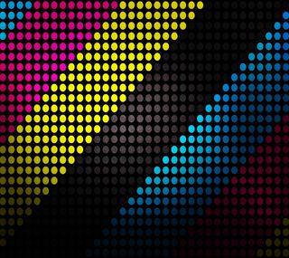 Обои на телефон точки, цветные, круги, абстрактные
