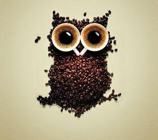 Обои на телефон сова, самсунг, кофе, забавные, галактика, samsung, galaxy, funny coffee owl