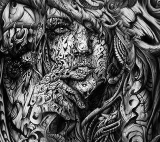 Обои на телефон лицо, дизайн, арт, art