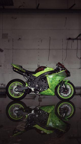 Обои на телефон ямаха, мотоцикл, зеленые, байк, yzf-r1, yamaha, r1