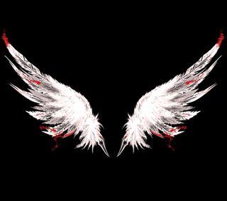 Обои на телефон летать, черные, крылья, белые