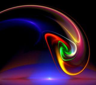 Обои на телефон красочные, цветные, спираль