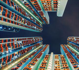 Обои на телефон здания, гугл, городские, город, башня, pixel urban, pixel, google