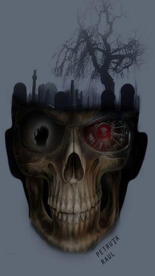 Обои на телефон жнец, черные, череп, терминатор, terminator reaper