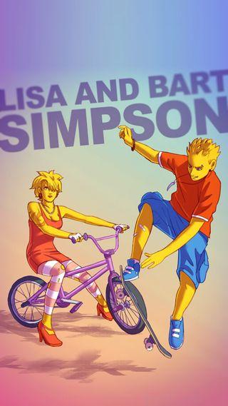 Обои на телефон тв, симпсоны, мультфильмы