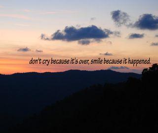 Обои на телефон смайлики, просто, не, закат, горы, over, just smile, its, happened, cry, because
