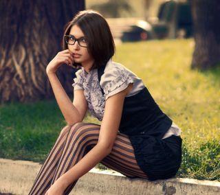 Обои на телефон очки, природа, девушки, tights, girl in glasses