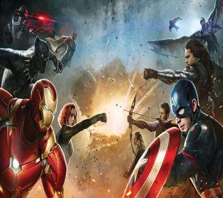 Обои на телефон марвел, гражданская, герои, война, бой, marvel civil war, marvel, fight heroes