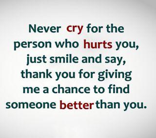 Обои на телефон cry, never cry, новый, цитата, поговорка, жизнь, знаки, смайлики, никогда, болит, лучше, шанс