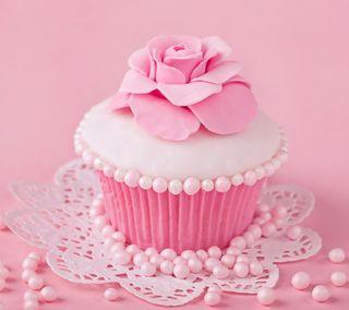 Обои на телефон украшение, цветные, торт, розы, розовые, милые, кекс