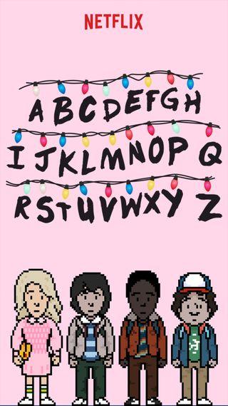 Обои на телефон чилл, странные, розовые, мальчики, дела, девушки, буквы, netflix and chill, netflix