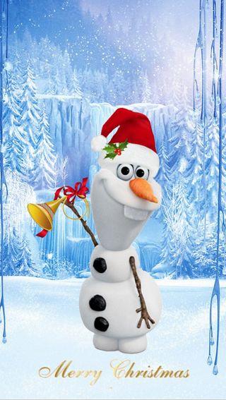 Обои на телефон холодное, счастливое, снеговик, санта, рождество, олаф