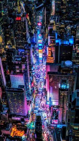 Обои на телефон times, usa, абстрактные, новый, ночь, город, осень, сша, токио, квадратные