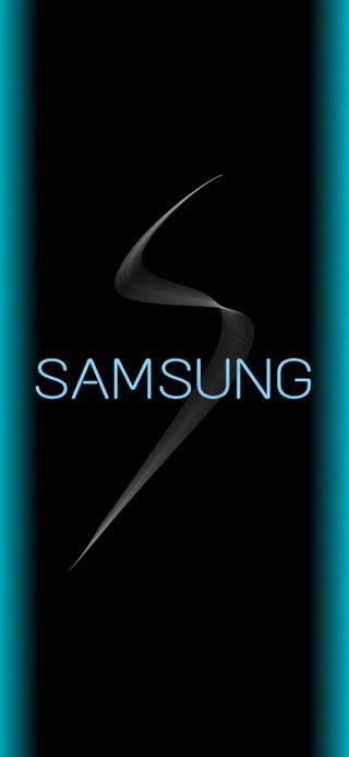 Обои на телефон ультра, синие, самсунг, премиум, логотипы, выемка, samsung, s10, air, a20