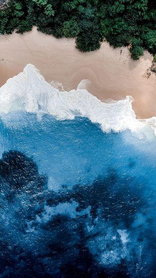 Обои на телефон волна, эпл, синие, океан, волны, ocean 4k, apple
