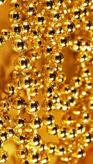 Обои на телефон шары, серебряные, рождество, металл, золотые, абстрактные