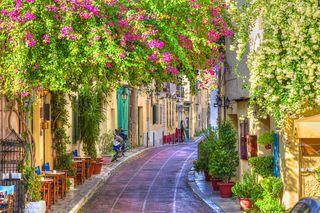 Обои на телефон греция, улица, путь, природа, прекрасные, лето
