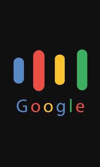 Обои на телефон плоские, черные, технология, простые, гугл, google assistant, assistant