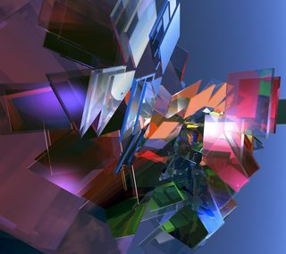 Обои на телефон коробка, стекло, куб, квадратные, абстрактные, glass abstract, 3д, 3d
