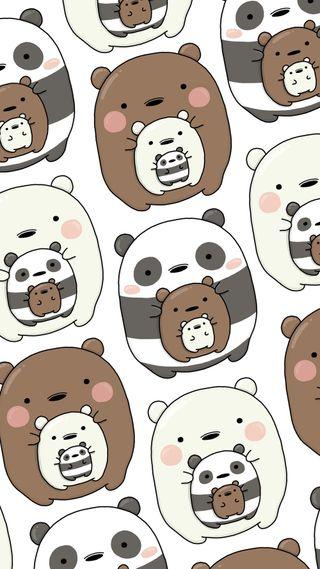 Обои на телефон медведи, милые